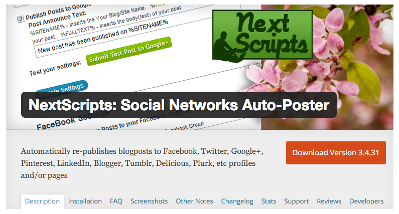 Nextscripts Social Networks WordPress Plugin on WPHero.io