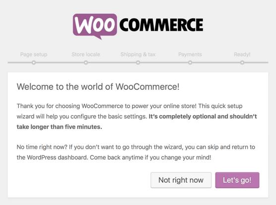 WooCommerce - Setup Wizard
