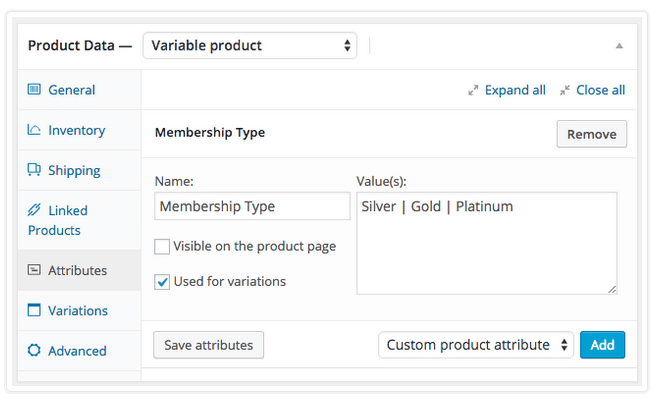 WooCommerce Memberships - Memebership Variations